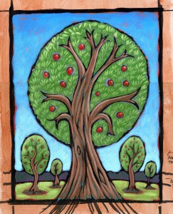 """Your Fruitful Tree"", original art by Don Tate"