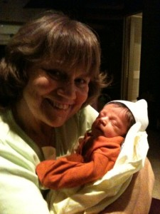 With her Grandson